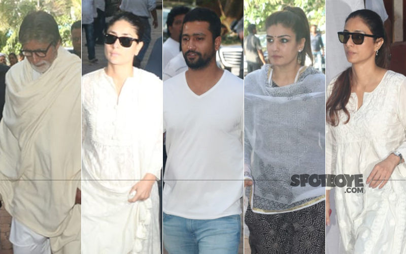 Veeru Devgan's Prayer Meet: Amitabh Bachchan, Kareena Kapoor Khan, Vicky Kaushal And Other Celebs Pay Their Condolences