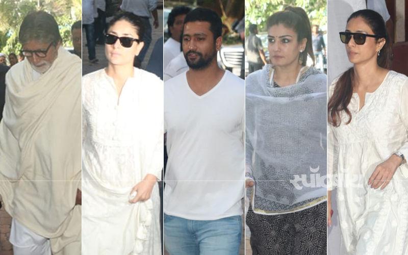 वीरू देवगन के प्रेयर मीट अमिताभ बच्चन, करीना कपूर खान, विक्की कौशल सहित कई बॉलीवुड सेलेब्स पहुंचे