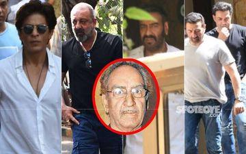 Veeru Devgan's Demise: Shah Rukh Khan, Sanjay Dutt, Sunny-Bobby Deol Reach Ajay Devgn's Residence To Pay Their Last Respects