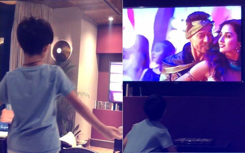 जब टाइगर श्रॉफ की फिल्म 'बागी 2' के गाने पर नाचे शिल्पा शेट्टी के लाड़ले विआन