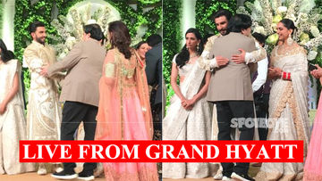 Deepika Padukone-Ranveer Singh Mumbai Wedding Reception: SpotboyE Editor Vickey Lalwani Congratulates Couple On Stage – 15 Pictures And 1 Video