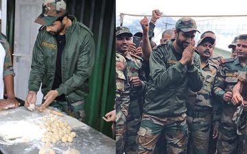भारतीय सैनिकों के साथ बॉर्डर पर रह रहे विक्की कौशल ने जवानों के लिए बनाई रोटियां