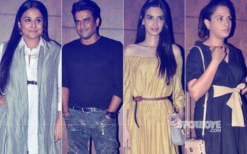 Vidya Balan, R Madhavan, Diana Penty, Richa Chadda At The Shubh Mangal Saavdhan Screening