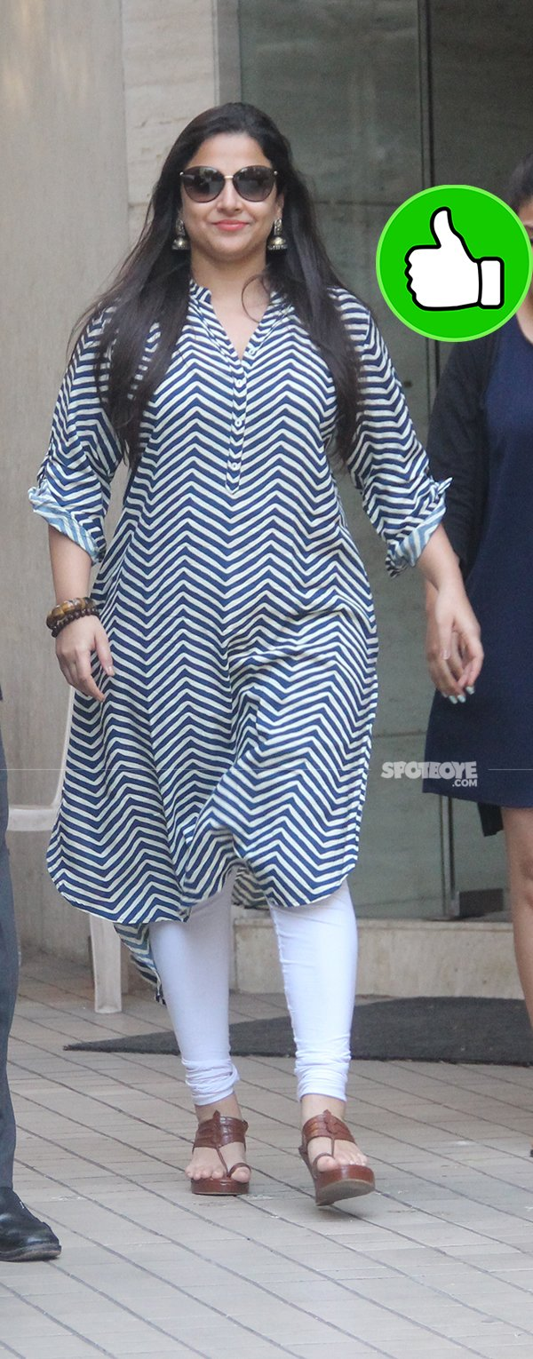 vidya balan snapped post dubbbing session in bandra