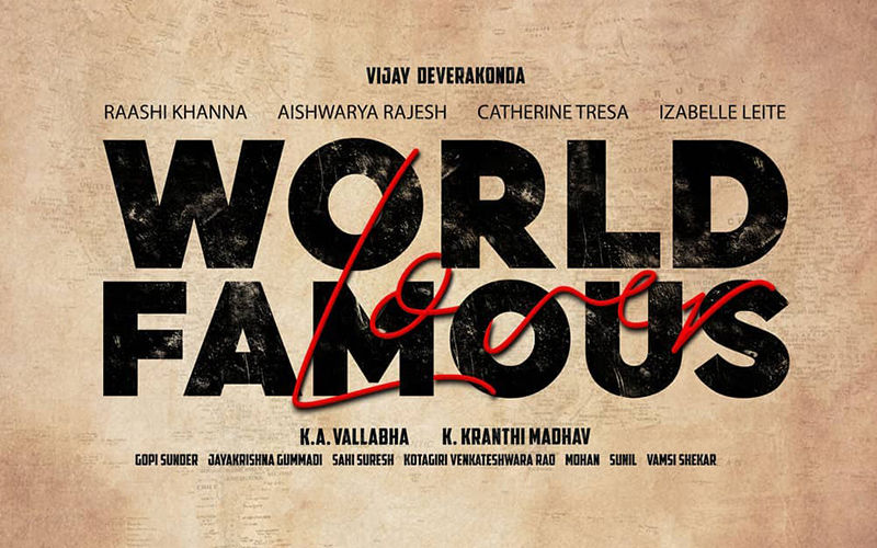 Vijay Deverakonda's Next With Filmmaker Kranthi Finally Gets A Title; The Actor To Play A 'World Famous Lover'