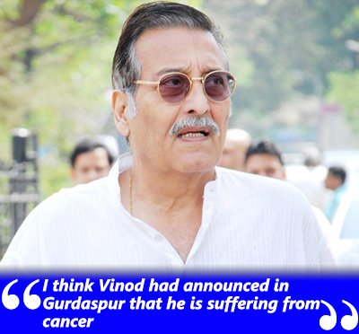 vinod khanna durin ghis stay in a hospital