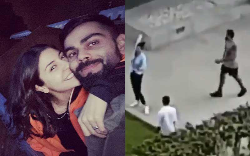 Anushka Sharma-Virat Kohli CAUGHT ON CAMERA Playing Cricket On Their Terrace; We Wonder Who Won The Game?- VIDEO