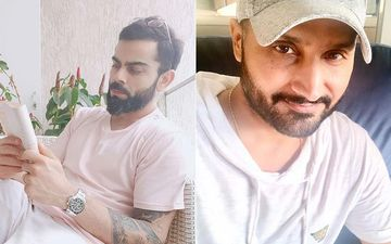 Virat Kohli Enjoys The Mumbai Monsoon Chilling In His Balcony With A Book; Curious Harbhajan Singh Comments, 'Reading Greh Shobha?' – LoL