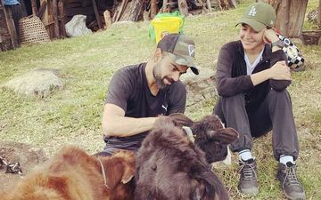Animal Lovers Virat Kohli-Anushka Sharma Pet Calves In Bhutan: Love Recognises Love - Pics