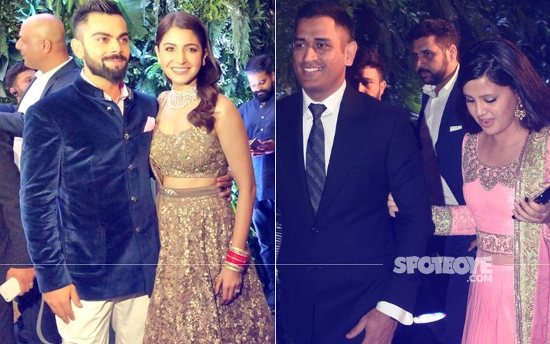 VIRAT-ANUSHKA MUMBAI RECEPTION: MS Dhoni & Wife Sakshi Join The Celebration