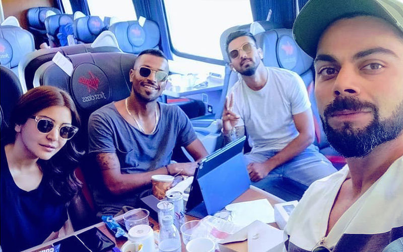 Anushka Sharma Enjoys A Train Ride With Hubby Virat Kohli & Team India