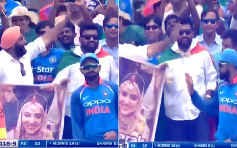 VIDEO:'What A Guy!' Virat Kohli's Reaction On Seeing His Wedding Banner During A Match Is PRICELESS!