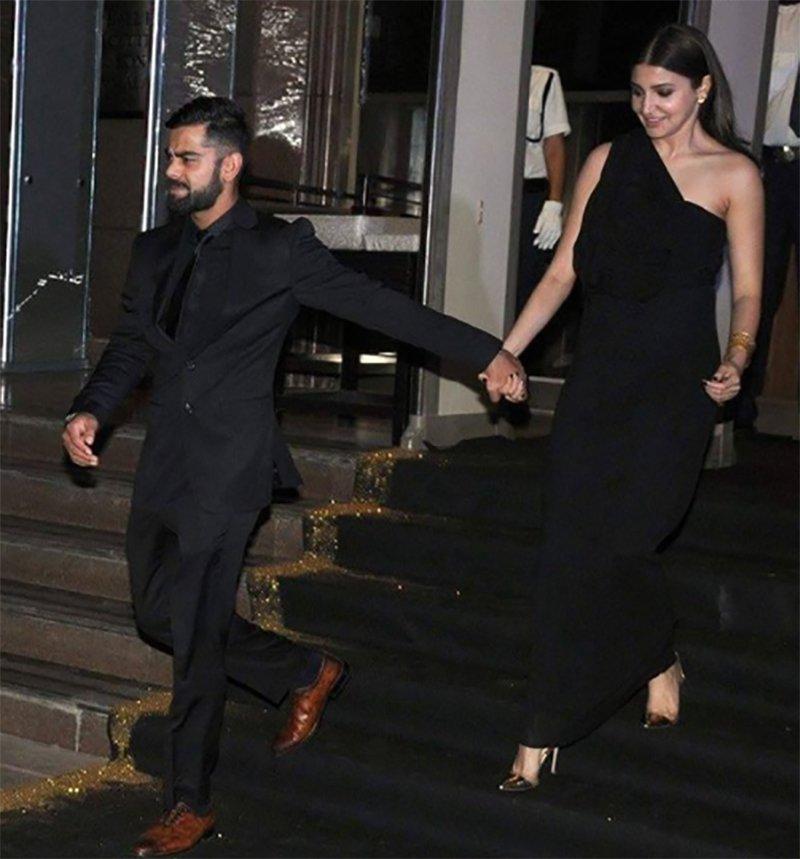 virat kohli and anushka sharma exit manish malhotras birthday bash holding hands