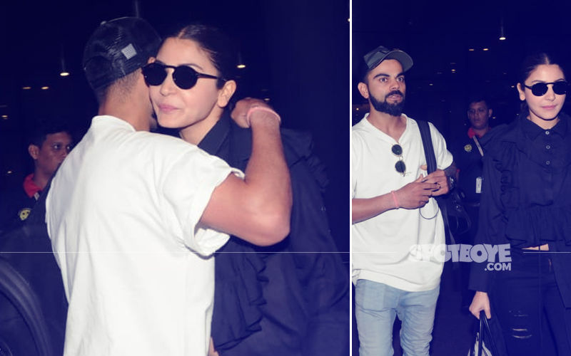 Virat Kohli & Anushka Sharma's Pics Hugging Each Other At The Airport Will Win Your Hearts