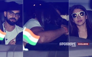 Pics: Virat Kohli Embraces Anushka Sharma In A Tight Hug On The Back Seat Of Their Car