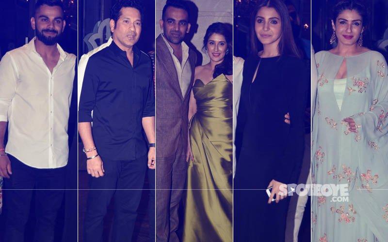 Virat Kohli, Sachin Tendulkar, Anushka Sharma & Raveena Tandon Gather At Zaheer Khan & Sagarika Ghatge's Engagement