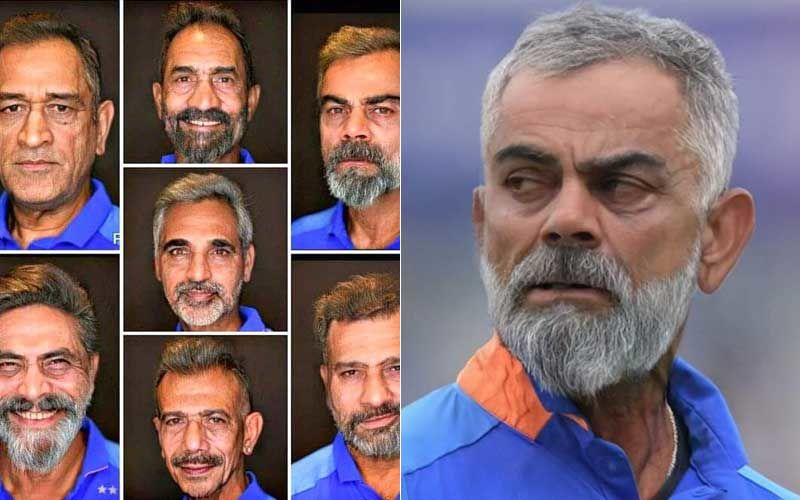 Mighty Hot At 80! Virat Kohli, MS Dhoni And Ravindra Jadeja's FaceApp Challenge Pictures Are Pure Gold