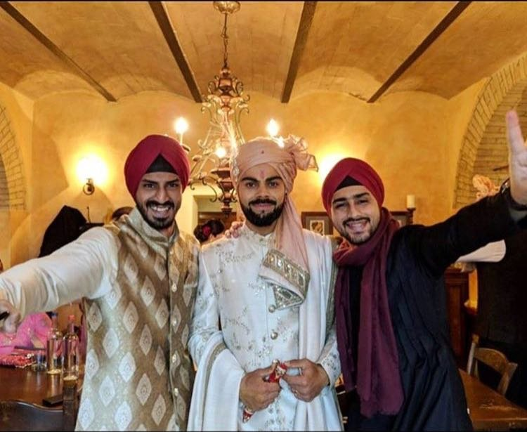 virat kohli with relatives getting ready for the wedding