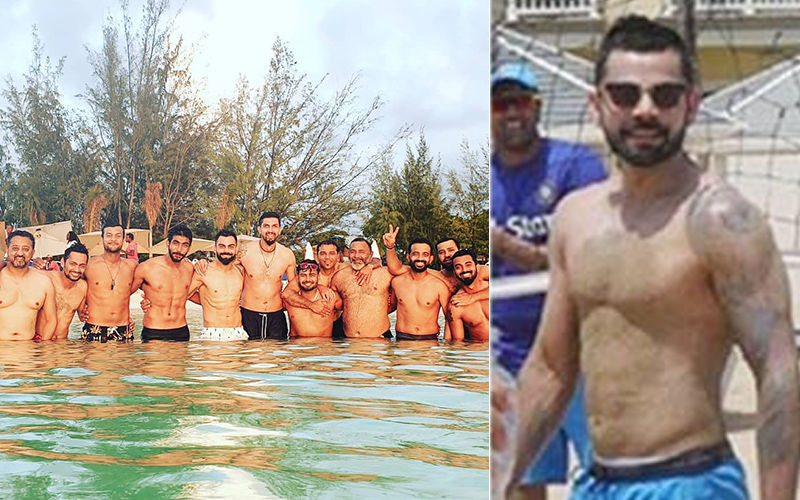 Virat Kohli, Rohit Sharma, KL Rahul, Jasprit Bumrah Go Shirtless; Soak In The Sun at Jolly Beach, Antigua