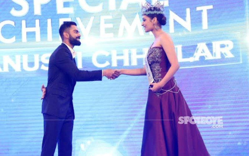 When Miss World 2017 Manushi Chhillar Met Indian Cricket Team Captain Virat Kohli