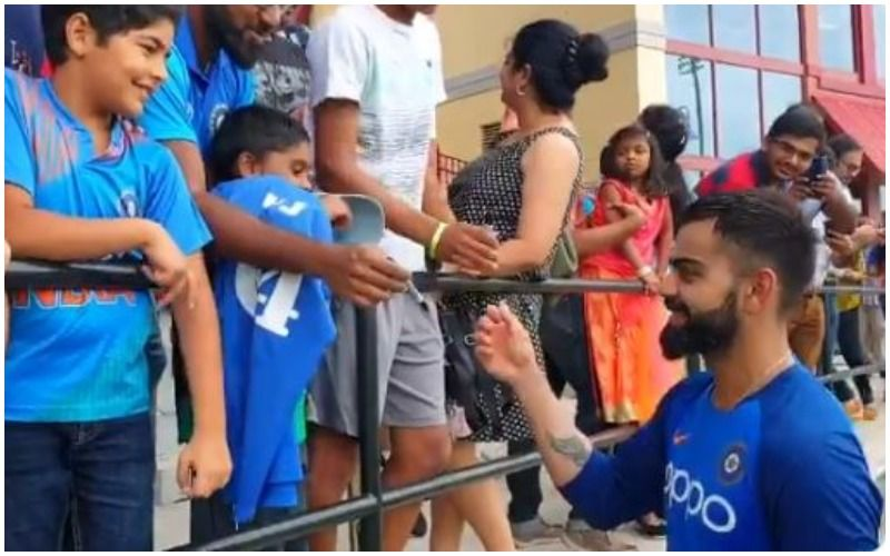Virat Kohli  Thrills Fans In Florida By Giving Autographs Ahead Of T20I Against West Indies. Can The Hunky Cricketer Get Any More Amazing?