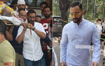 Veeru Devgan Demise: Saif Ali Khan Meets Ajay-Kajol At Their Residence To Offer Condolences