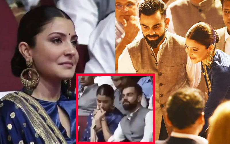 Virat Kohli-Anushka Sharma Share An Emotional Moment; Actress Holds And Kisses Husband's Hand At Mention Of His Late Father- VIDEO