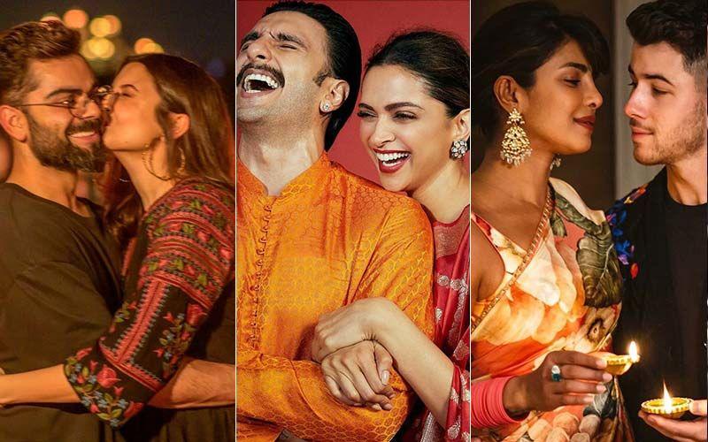 Diwali 2020: Virat Kohli-Anushka Sharma's Celebrations Have A Sanitizer Twist, Deepika Padukone-Ranveer Singh Look Lovely, Priyanka Chopra-Nick Jonas Celebrate In London - PICS