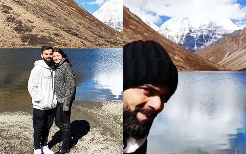 Anushka Sharma Appreciates 'God's Creation' Virat Kohli As He Photobombs A Beautiful View Of The Himalayas-VIDEO
