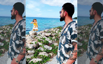 Virat Kohli's Latest Picture Staring At A Photoshopped Anushka Sharma At The Lake Side Is All Things Cute