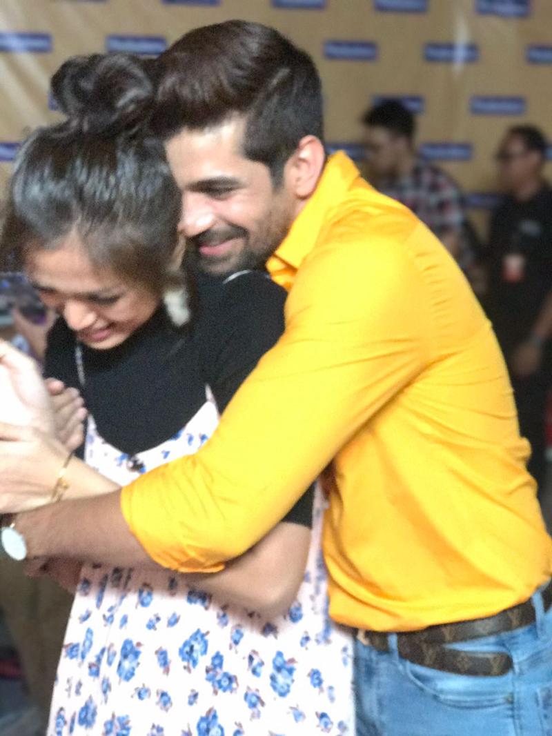 vishal singh and inijedar share a cute moment