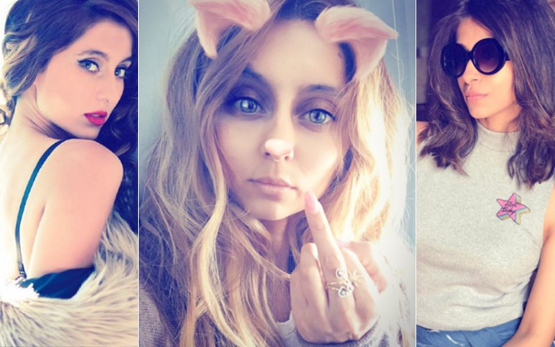 Is VJ Anusha Dandekar Showing Her Middle Finger To Kishwer Merchant?