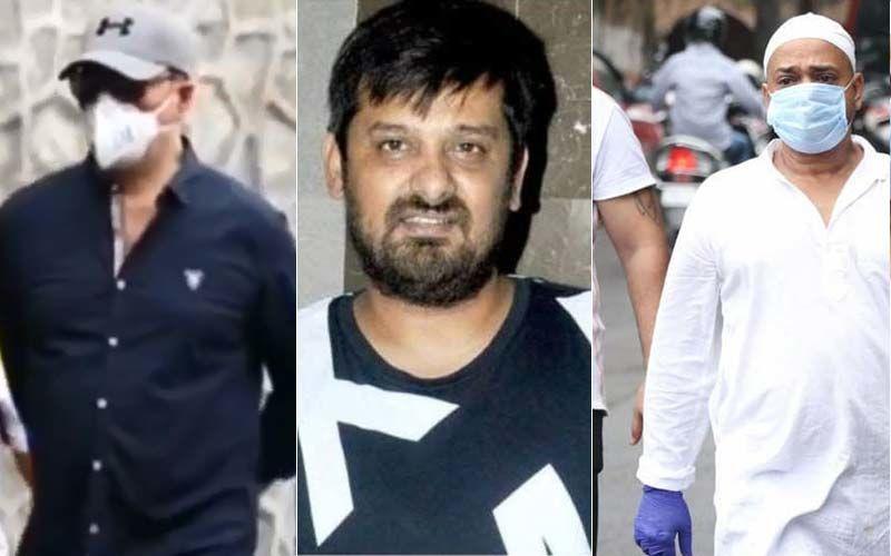 Wajid Khan Funeral: Brother Sajid Khan, Aditya Pancholi, Salman Khan's Friend Nadeem, Family Arrive At Versova Crematorium For Last Rites