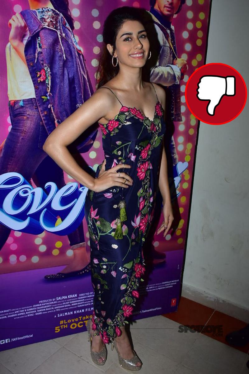 warina hussain snapped at loveratri promotions in mumbai