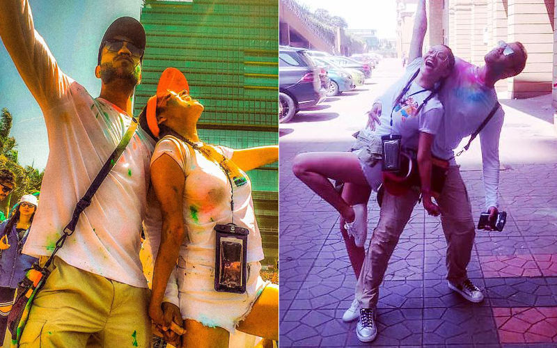 Ankita Lokhande Enjoys Holi Masti With Boyfriend Vicky Jain