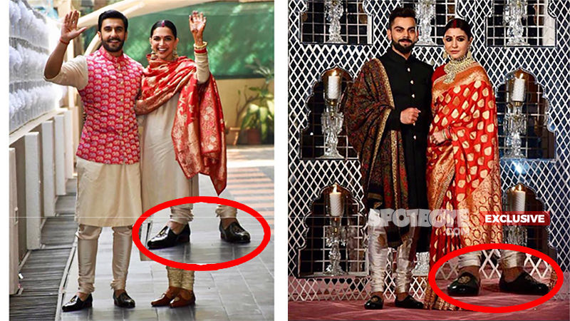 Dekho! Ranveer Singh-Virat Kohli Picked Up Similar Shoes For Their Wedding. Or Is It That Deepika-Anushka Took The Same Decision?