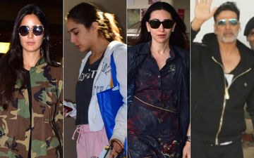 Airport Diaries: Katrina Kaif, Sara Ali Khan, Karisma Kapoor And Akshay Kumar Go Cool And Casual