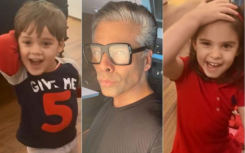 Karan Johar's Kids Yash And Roohi Complain That Their Dadda's Singing Gives Them Headache; The Video Has Left Us In Splits-WATCH