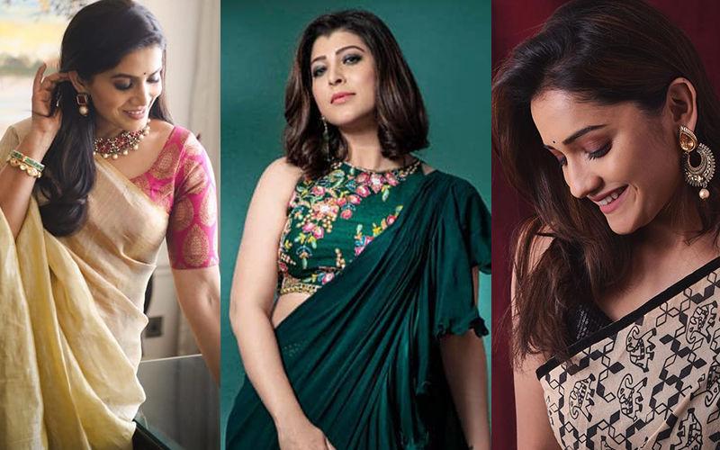 Who Slayed The Saree Look? Sonali Kulkarni, Tejaswini Pandit, Or Hruta Durgule