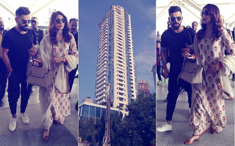 PICS: After Landing In Mumbai, Virat Kohli & Anushka Sharma Head Straight To New Home In Worli