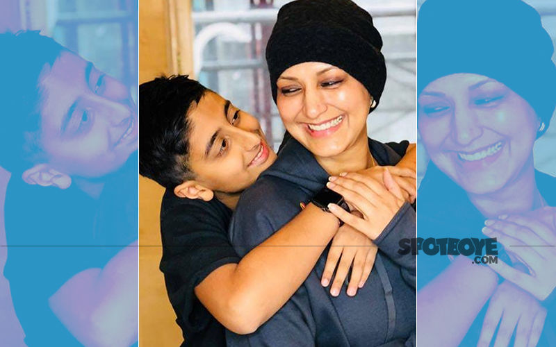 Son Ranveer Hugs Ailing Mom Sonali Bendre At Sloan Kettering Cancer Centre