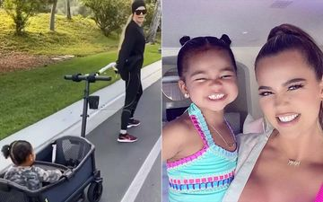 Khloe Kardashian Sheds Her 'Quarantine Weight' By Pulling Around Baby True In A Wagon; Who Needs A Gym Afterall?- WATCH