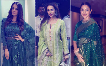 Navratri 2018 Day 3 Colour, Green: Take Cue From Surveen Chawla, Anushka Sharma, Malaika Arora's Enviable Outfits