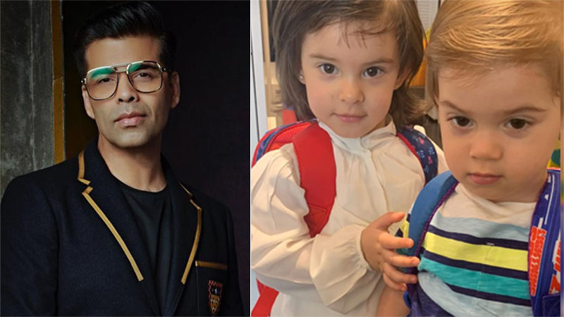 Karan Johar's Kids Yash And Roohi Are Off To School And Papa Shares The First Pic