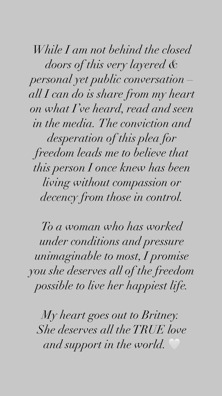 Christina Aguileras Instagram stories