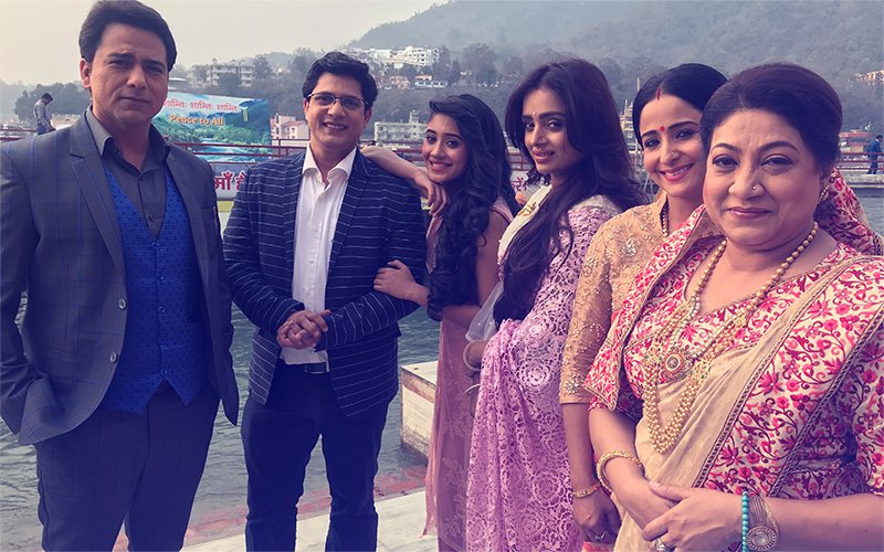 Pics From Hrishikesh: Mohsin Khan and Shivangi Joshi Shoot Yeh Rishta Kya Kehlata Hai