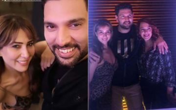 Kim Sharma Enters Yuvraj Singh's Party In Style And An Excited Uproar Follows! Exes Are Now Buddies!!