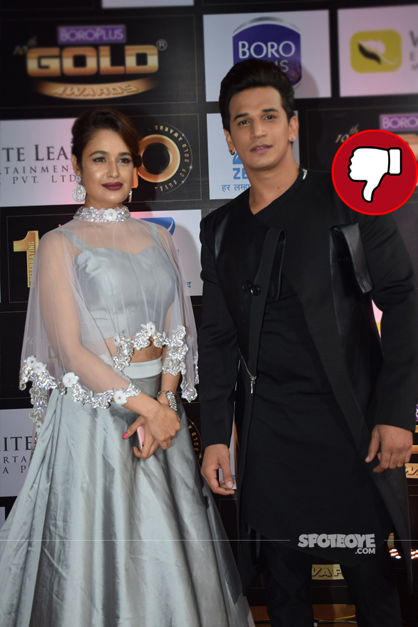 yuvika chaudhary and prince on gold awards 2017