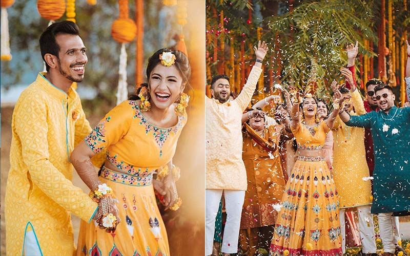 INSIDE PICTURES From Yuzvendra Chahal- Dhanashree Verma's Beautiful Haldi Ceremony; The Couple Looks Radiant, Happy And Oh-So-In-Love
