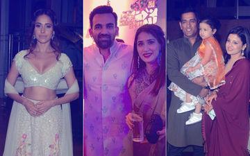Inside Videos: Nushrat Bharucha, Zaheer Khan-Sagarika Ghatke, MS Dhoni-Sakshi At Poorna Patel's Wedding Party